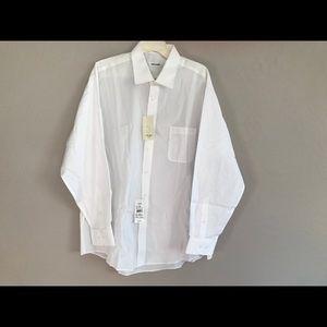 NWT Pierre Cardin white dress shirt
